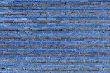 clinker: blue colored clinker brick wall for background use