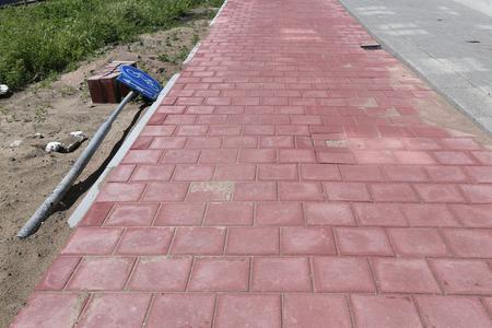 bikeway: bikeway under construction in the Netherlands Stock Photo