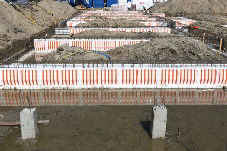 zoning: foundation of a new apartment building
