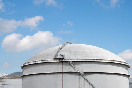 depot: tanks of an oil depot