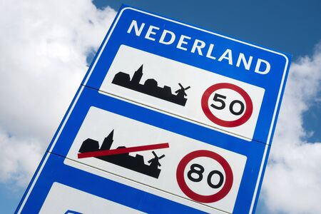 general: Dutch road sign: general speed limits
