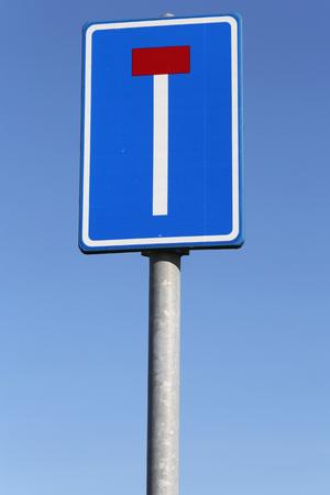 panneau routier néerlandais: voie sans issue Banque d'images