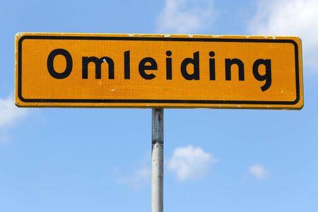 diversion: Dutch road sign: diversion