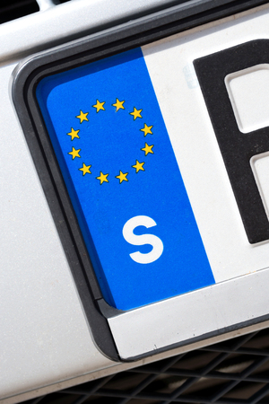 numberplate: country identifier of EU car registration plate: Sweden