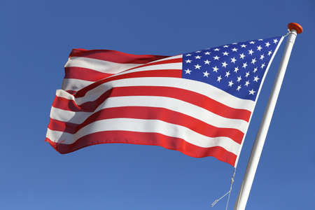 flag of the United States blowing in the wind