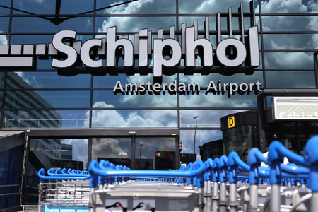 schiphol: main entrance of Amsterdam Airport Schiphol