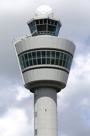 atc: traffic control tower of Schiphol Amsterdam Airport