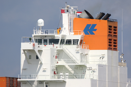 foreign trade: CHICAGO EXPRESS leaving the port of Rotterdam