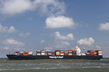 CHICAGO EXPRESS leaving the port of Rotterdam