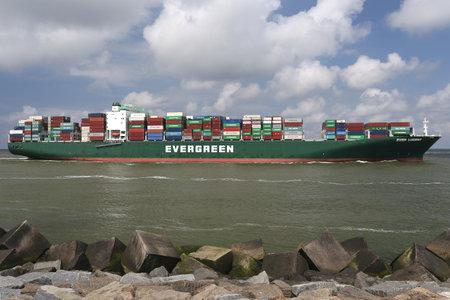 marine ship: EVER LUCENT inbound Rotterdam Editorial