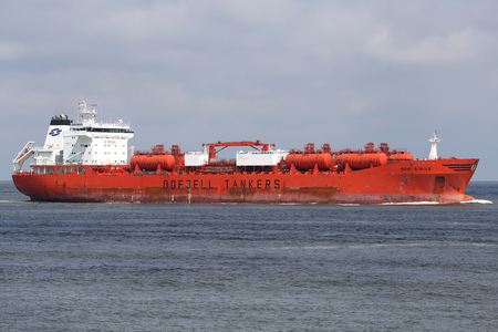 foreign trade: Chemical tanker BOW SIRIUS inbound Rotterdam Editorial