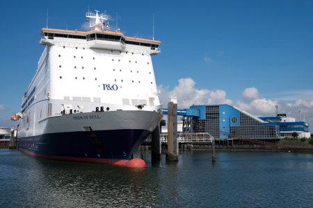 hull: PRIDE OF HULL at Rotterdam terminal Editorial
