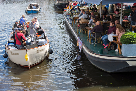flowerpower: musicians playing at WOW! Woodstock op het Water (Woodstock on the Water) - July 2, 2016 Editorial