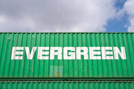 Evergreen 40 ft container intermodale Editoriali