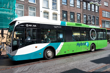 Van Hool A300 hybrid bus operated by Arriva Editorial