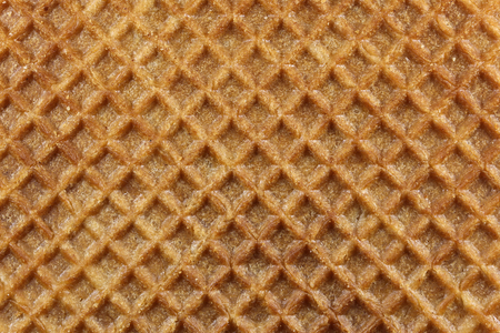 treacle: traditional Dutch syrup waffle for background use