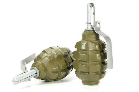 hand grenades isolated on white background