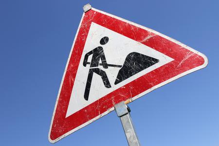 German road sign: roadworks