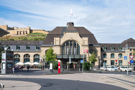 focal point: Station building and forecourt of Koblenz Hauptbahnhof (main station). Koblenz Central Station is the focal point of rail transport in the Rhine-Moselle-Lahn area.