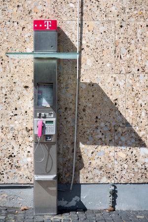 telephone booth: telephone booth of German Telekom