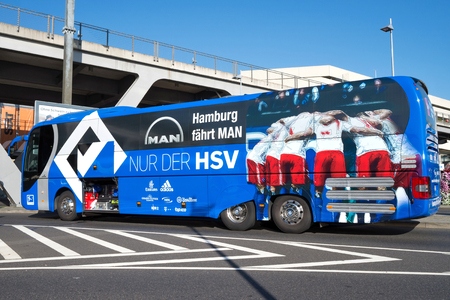 hsv: team bus of the Hamburger SV football department