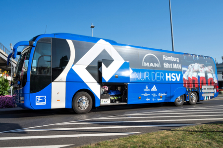 team bus of the Hamburger SV football department