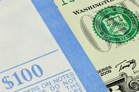 bundle: bundle of 1 Dollar notes