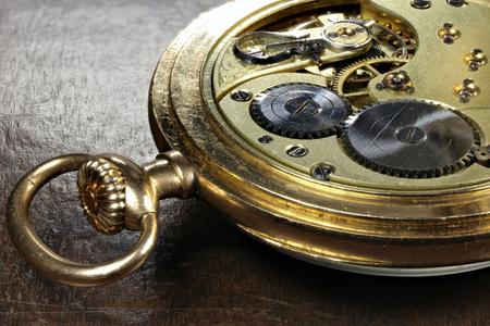 14k: clockwork of an antique Swiss 14k gold pocket watch