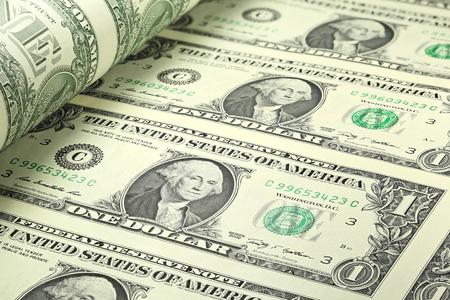 greenback: 1 US Dollar sheet uncut