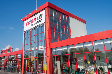 toom hardware store. toom is a large German DIY retailer and part of the REWE Group.