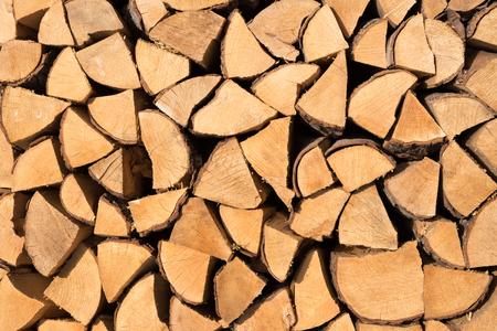 boles: firewood for background use Stock Photo
