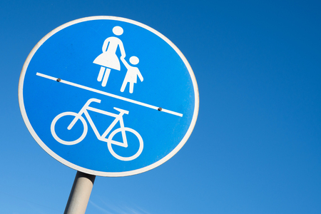 cycleway: German road sign: shared use path