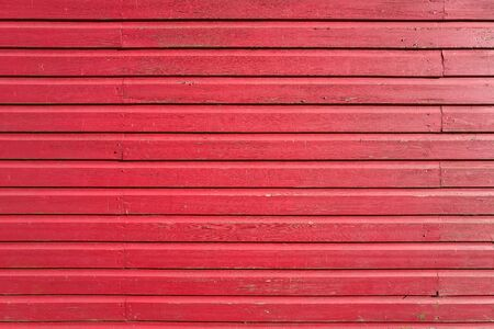 wooden boards: red colored wooden wall for background use Stock Photo