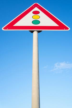 señales trafico: German road sign: traffic signals