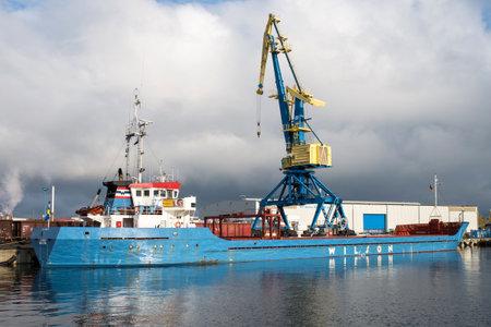 general cargo vessel JUMBO in the port of Wismar