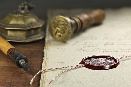 문서에 왁스 도장