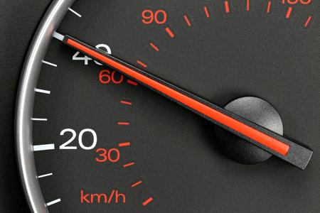 mph: speedometer at 40 mph