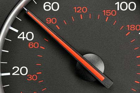 mph: speedometer at 50 mph