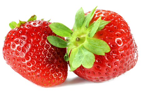 mellowness: strawberries isolated on white background