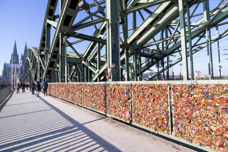love locks at the Hohenzollern Bridge in Cologne  Germany
