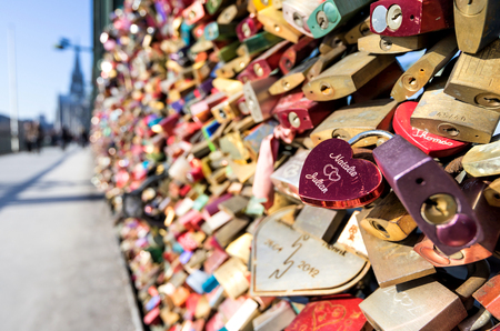 love locks at the Hohenzollern Bridge in Cologne  Germany
