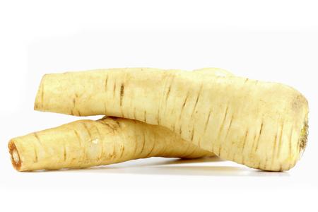 parsnips isolated on white background Stock Photo