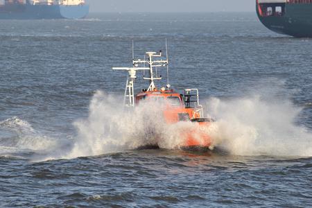 pilot vessel at sea