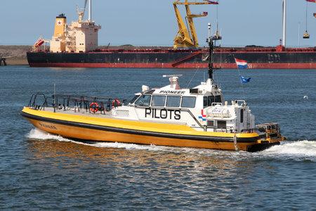 Pilot tender PIONEER in the port of IJmuiden Editorial