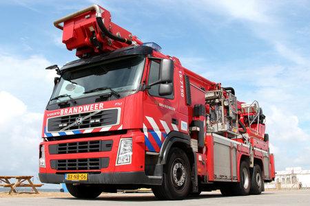 Dutch fire engine beside the beach