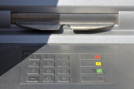 bankomat: PIN pad of a Dutch automated teller machine