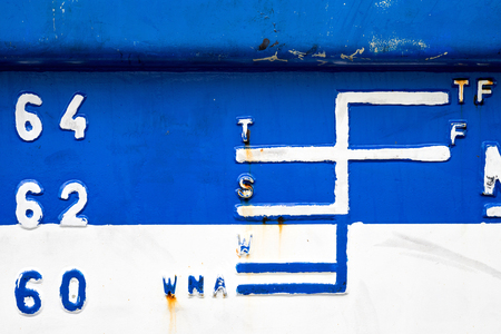 depth measurement: load line markings on a ship