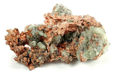 Natives Kupfer aus Michigan / USA isoliert auf weißem Hintergrund Standard-Bild - 84661217