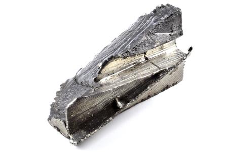 99.93% fine dysprosium isolated on white background Foto de archivo