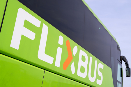 Flixbus intercity bus. Flixbus is a brand which offers intercity bus service all over Europe.